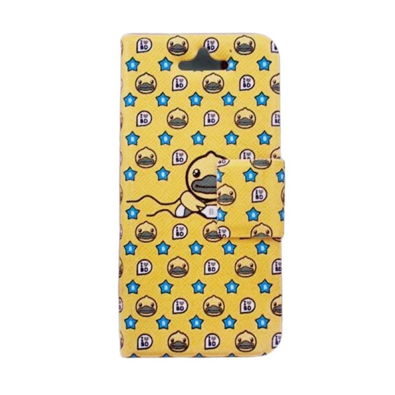 Delcell Flip Cover Case for iPhone 5/5s B-Duck - Kuning