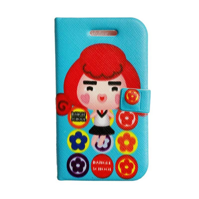 Delcell Flipcase Bangle School For BB 9900 - Blue