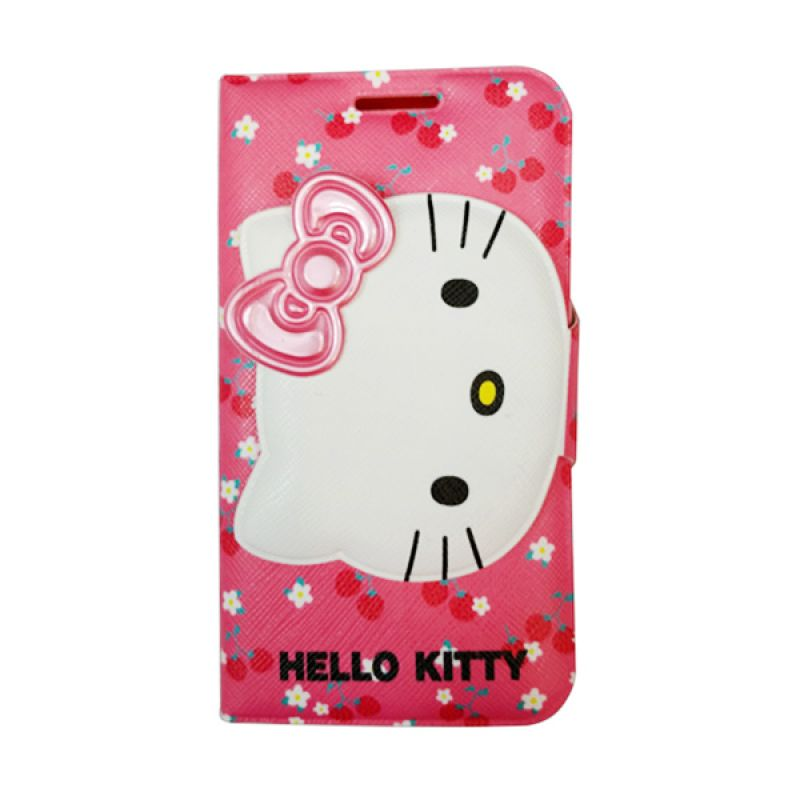 Delcell FlipCase For Samsung Galaxy S3 Hello Kitty Merah