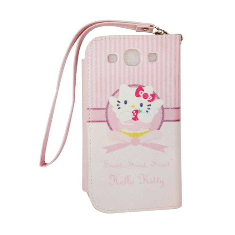 Delcell FlipCase For Samsung Galaxy S3 Hello Kitty Pink