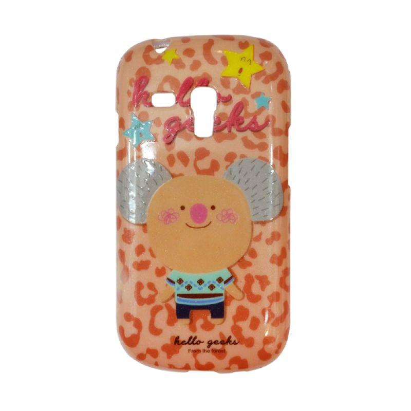 Delcell Case For Samsung S3 Mini Hello Geeks Coklat