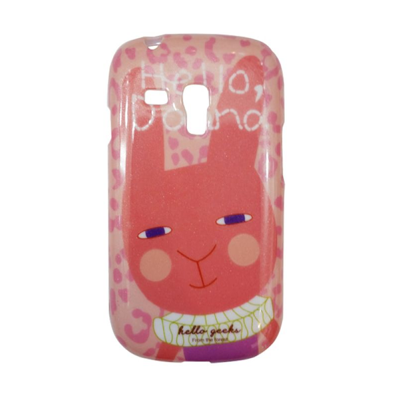 Delcell Case For Samsung S3 Mini Hello Geeks Kucing Pink