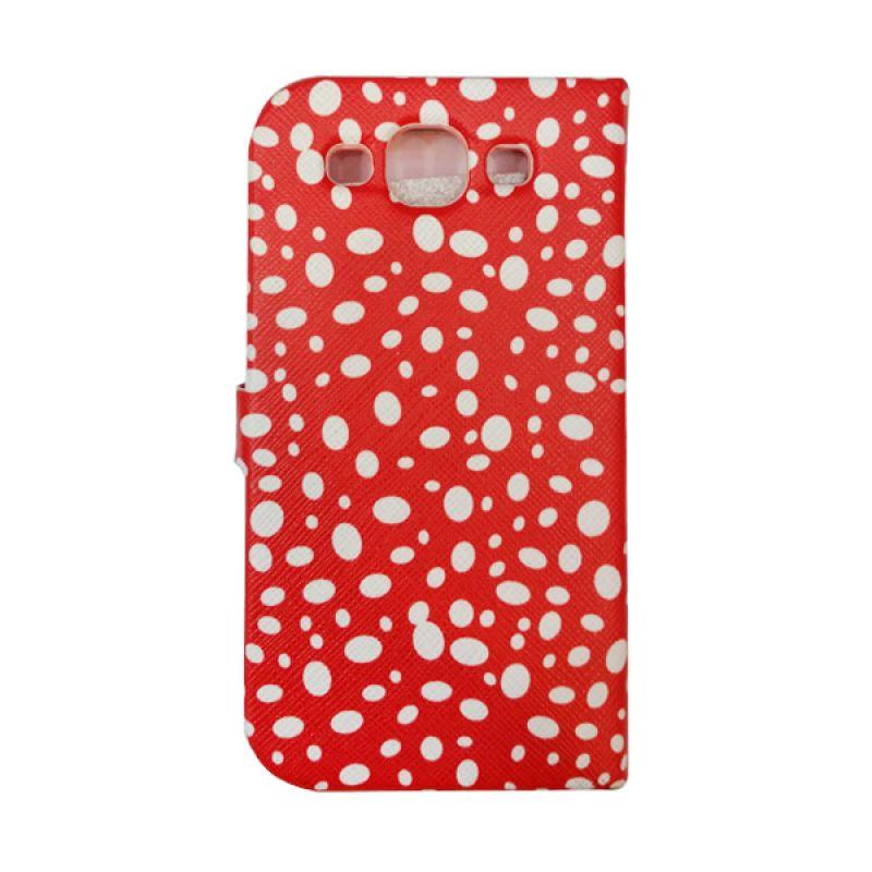 Delcell FlipCase For Samsung Galaxy S3 Totol Totol Merah Biru