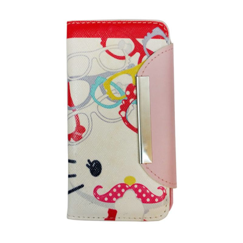 Delcell Flipcase Hello Kitty for iPhone 5/5s - Putih