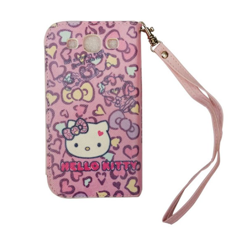 Delcell Flipcase iPhone 5 Hello Kitty Pink Casing