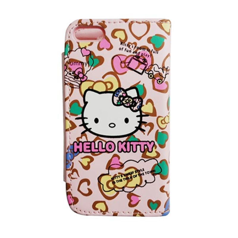 Delcell Flip Case iPhone 5 Hello Kitty - Pink