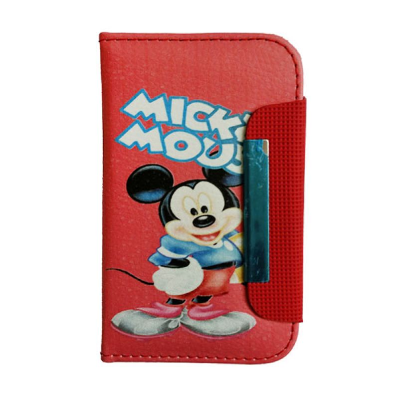 Delcell Flipcase Mickey Mouse BlackBerry 9900 Merah Casing