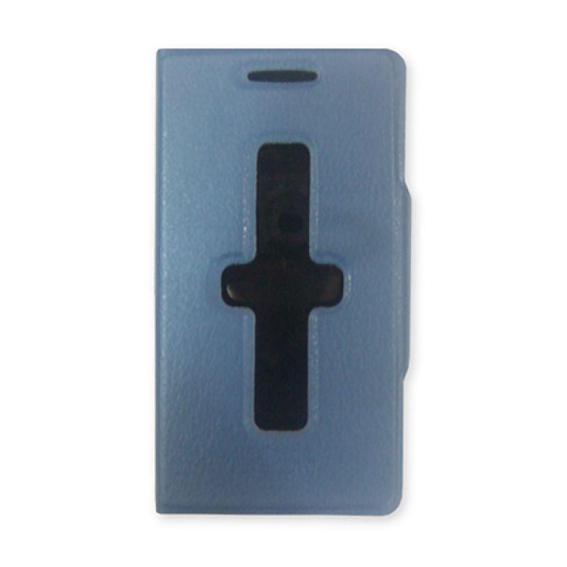Delcell Flipcover ID Card For Blackberry Z10 Biru