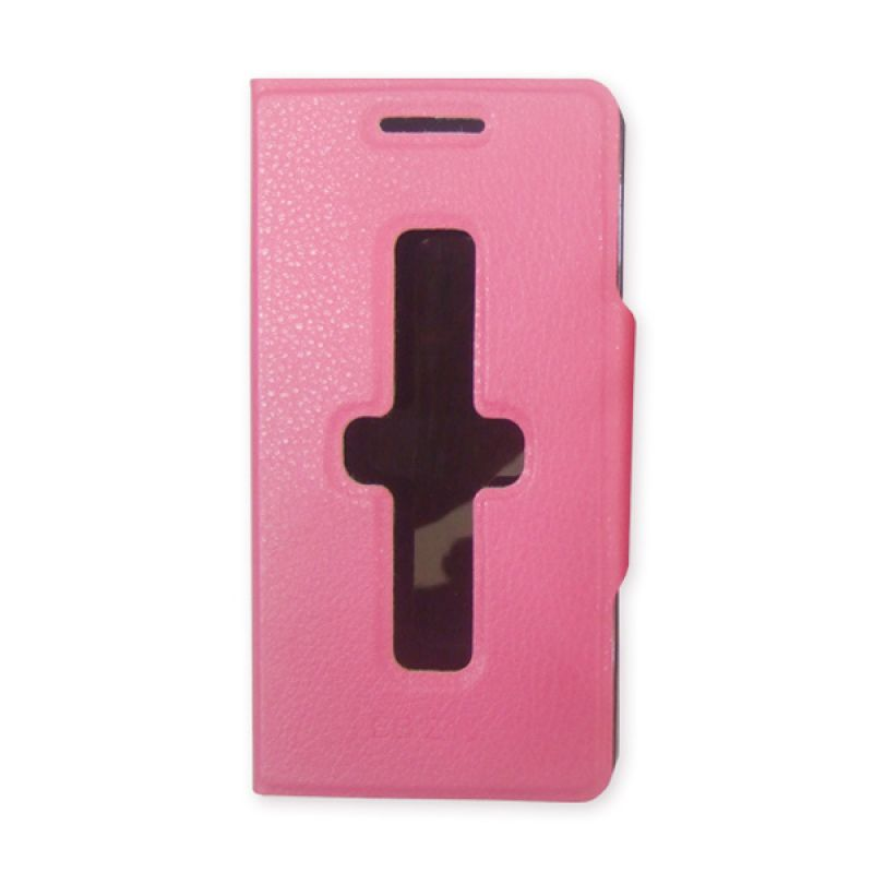 Delcell Flipcover ID Card For Blackberry Z10 Pink