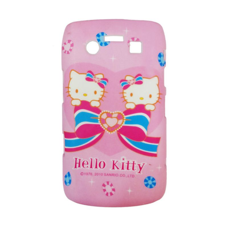 Delcell Hard Case Back Cover Double Hello Kitty for BlackBerry 9700 Pink