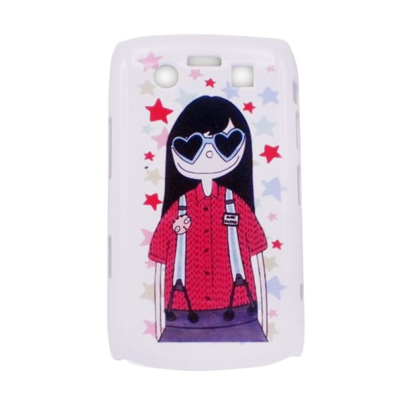 Delcell Hard Case Back Cover Girl for Blackberry 9700 - Putih