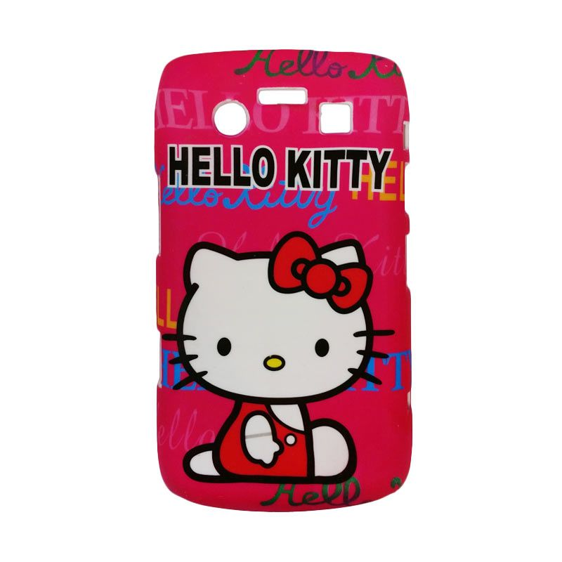 Delcell Hard Case Back Cover Hello Kitty for BlackBerry 9700 Merah