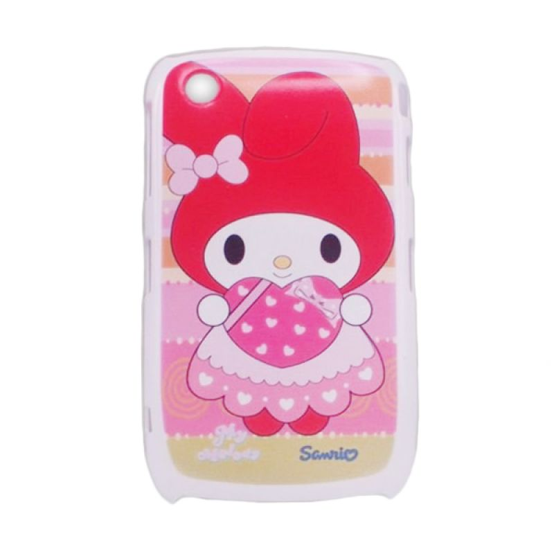 Delcell Hard Case Back Cover Kitty for Blackberry 8520 Putih - Type 003