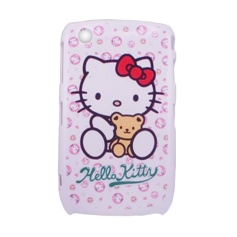 Delcell Hard Case Back Cover Kitty for Blackberry 8520 Type 001 Putih Casing