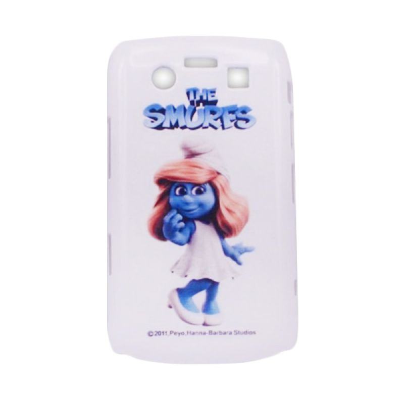 Delcell Hard Case Back Cover The Smurfs for Blackberry 9700 - Putih