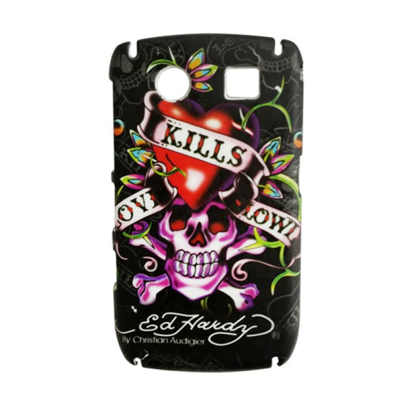 Delcell Hard Case EdHardy for BlackBerry 8900 Hitam