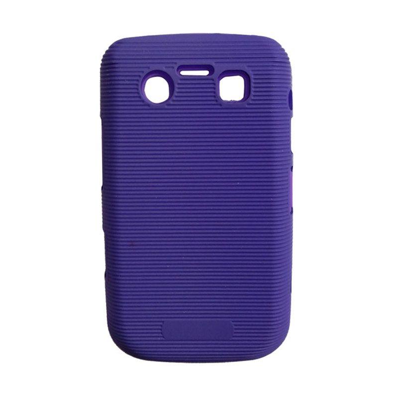 Delcell Hard Case Garis Garis for BlackBerry 9930/9900 Biru