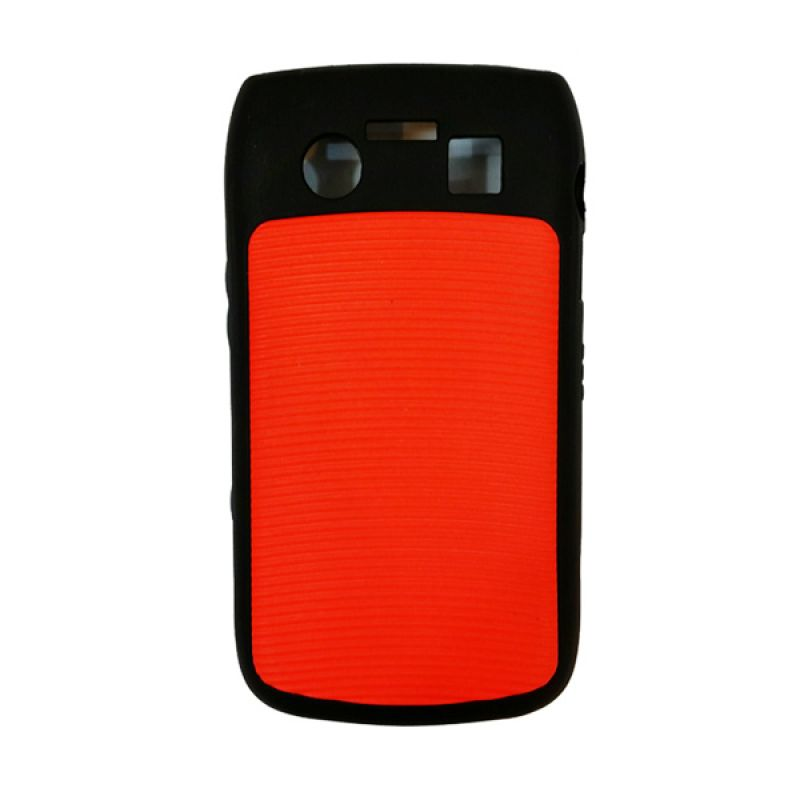 Delcell Hard Case Hitam Merah For BlackBerry Onyx 9700 Casing