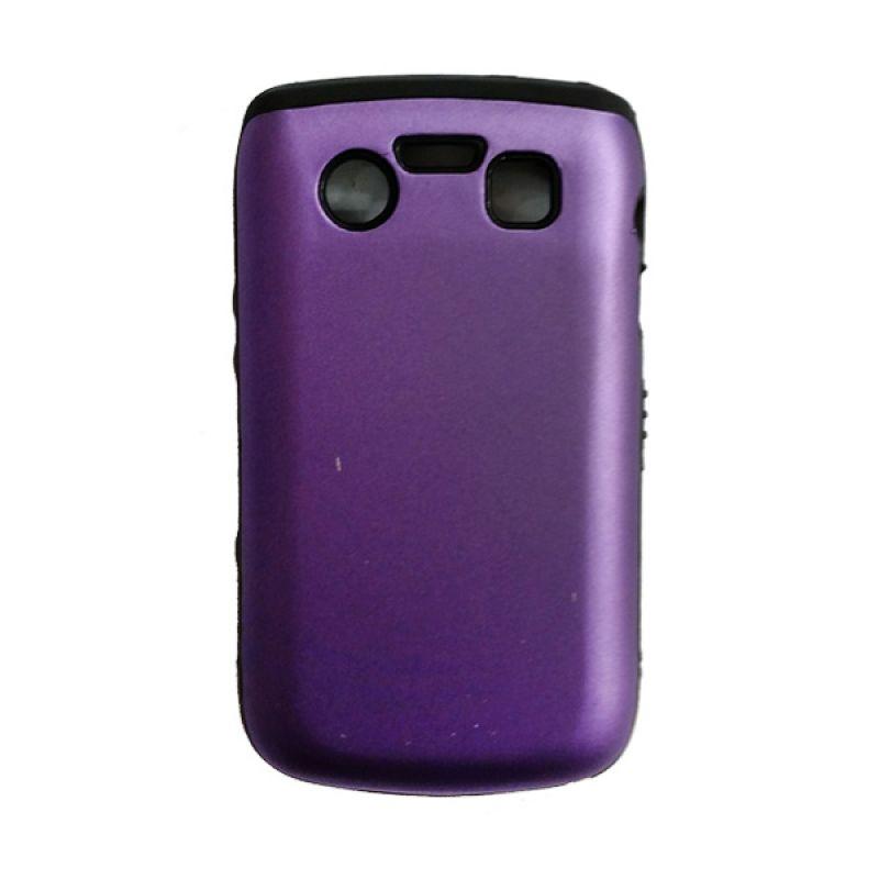 Delcell Hard Case Jelly for BlackBerry 9700 Ungu Hitam