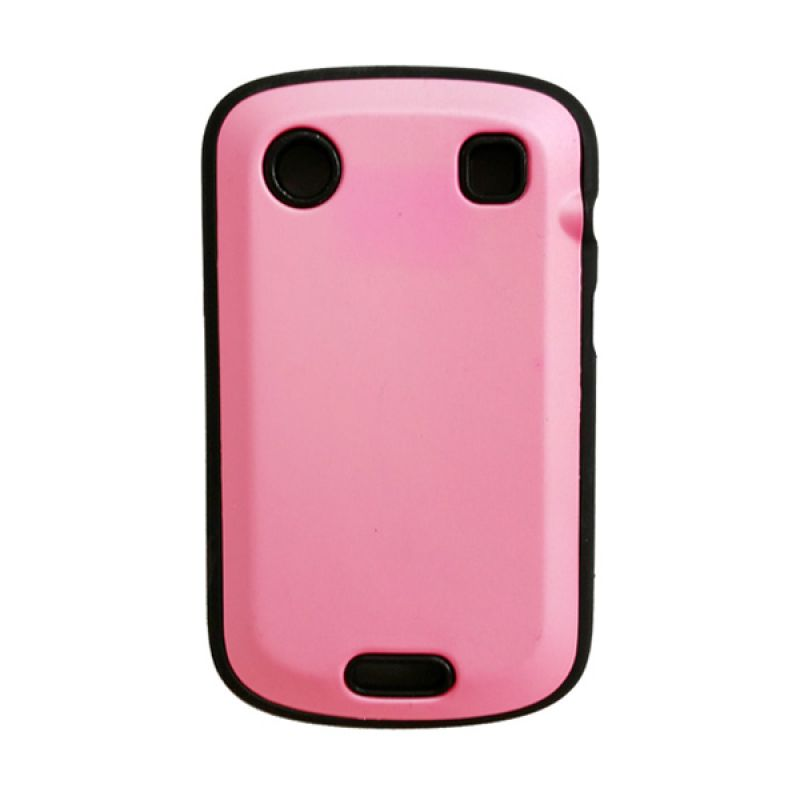 Delcell Hard Case Jelly for BlackBerry 9930/9900/9790 Pink Hitam