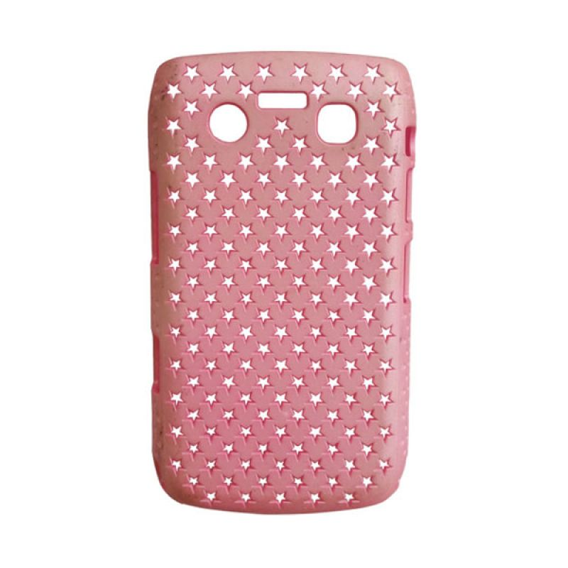 Delcell Hard Case Motif Bintang for BlackBerry 9930/9900 Pink