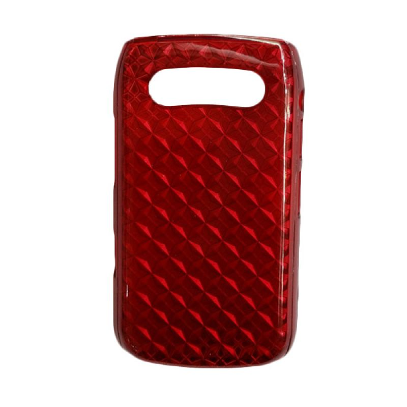 Delcell Jelly Case For BB Onyx 9700 - Merah