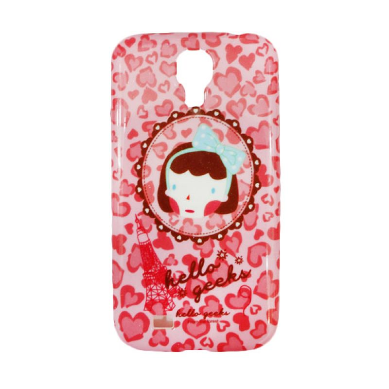 Delcell Jelly Case Hello Geeks Girls For Samsung Galaxy S4 Casing