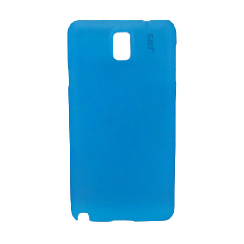 Delcell Jzzs Winged Shield Back Cover Ultra Thin for Samsung Galaxy Note III - Biru Transparan