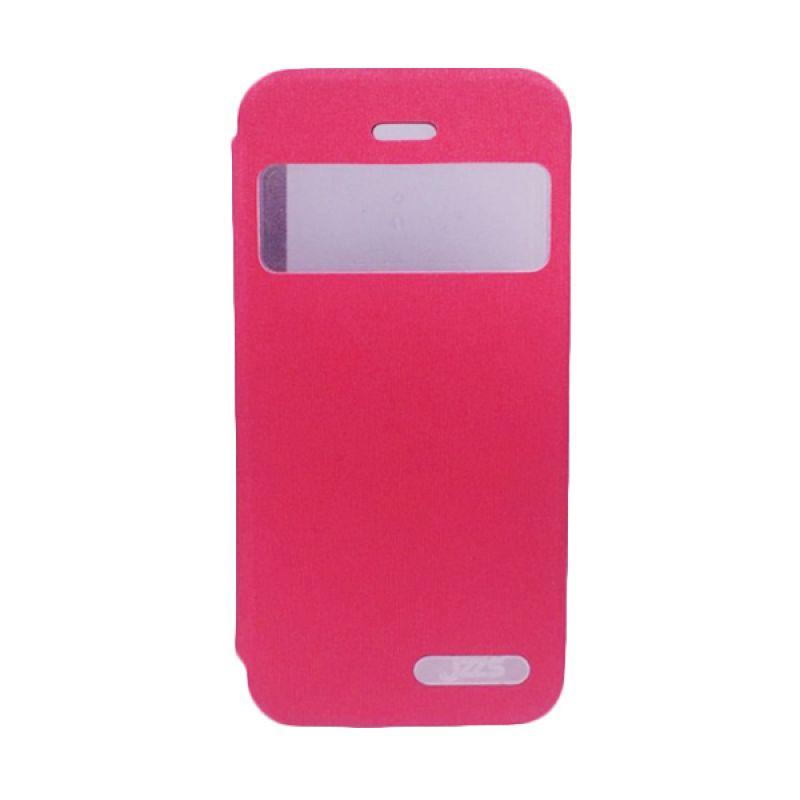 Delcell Jzzs Benseer Flip Cover dan Viewer for iPhone 5/5s - Merah