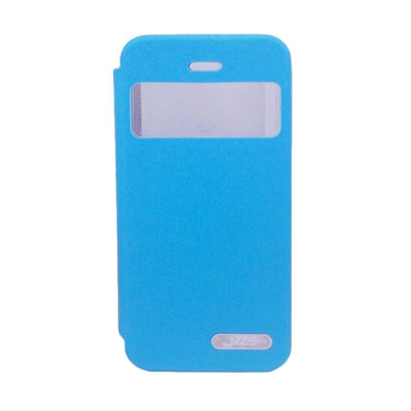 Delcell Jzzs Benseer Flip Cover for iPhone 5/5s - Biru Casing