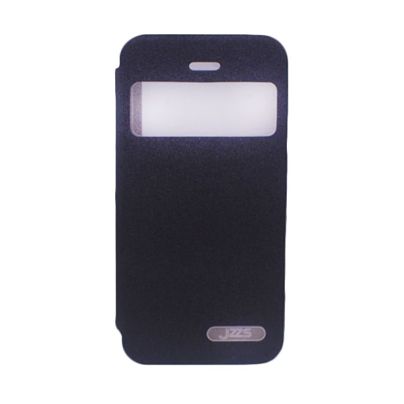 Delcell Jzzs Benseer Flip Cover for iPhone 5/5s - Hitam Casing
