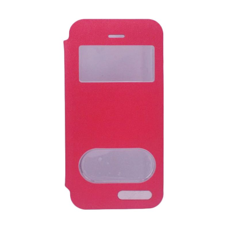 Delcell Jzzs Benseer Flip Cover for iPhone 5C - Merah Casing