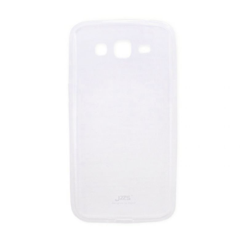 Delcell Jzzs Crystal TPU Soft Case Ultra Thin 0.5 mm for Samsung G7106 Grand II Duos - Putih Transparan Casing