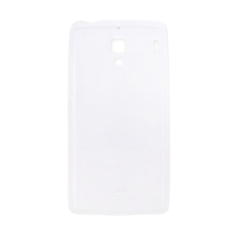 Delcell Jzzs Crystal TPU Soft Case Ultra Thin 0.5 mm for Xiaomi Redmi 1S - Putih Transparan Casing