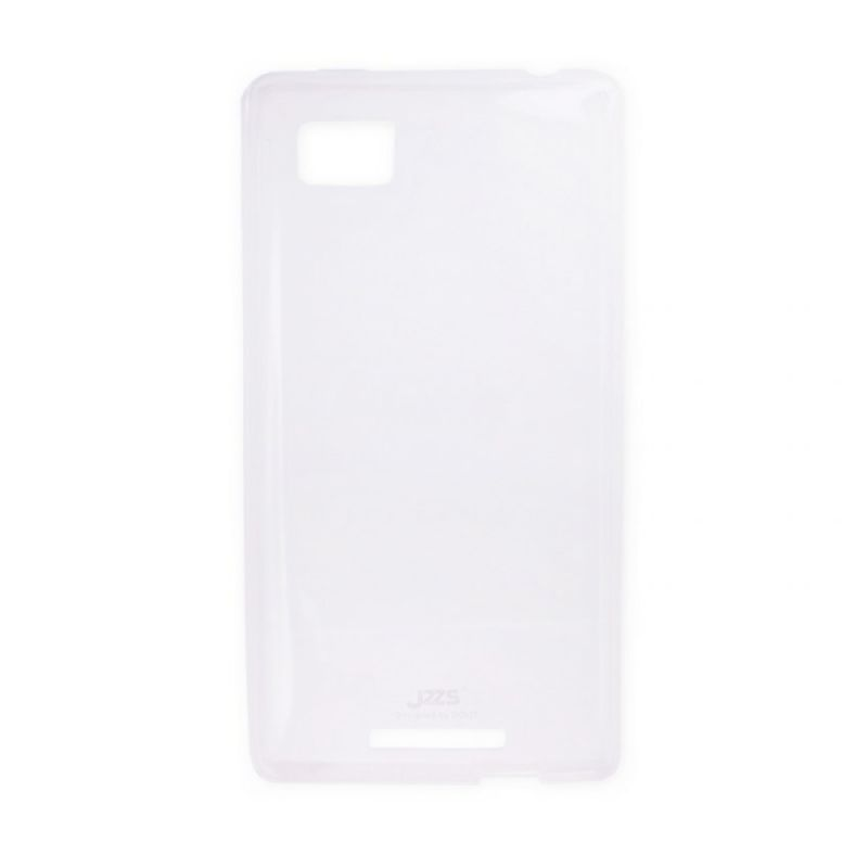 Delcell Jzzs Crystal TPU Soft Case Ultra Thin 0.5mm for Lenovo K910 - Putih Transparan
