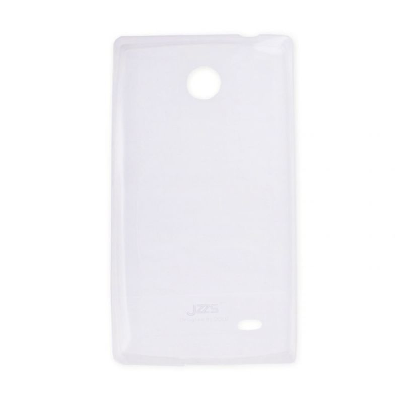 Delcell Jzzs Crystal TPU Soft Case Ultra Thin 0.5mm for Nokia X - Putih Transparan