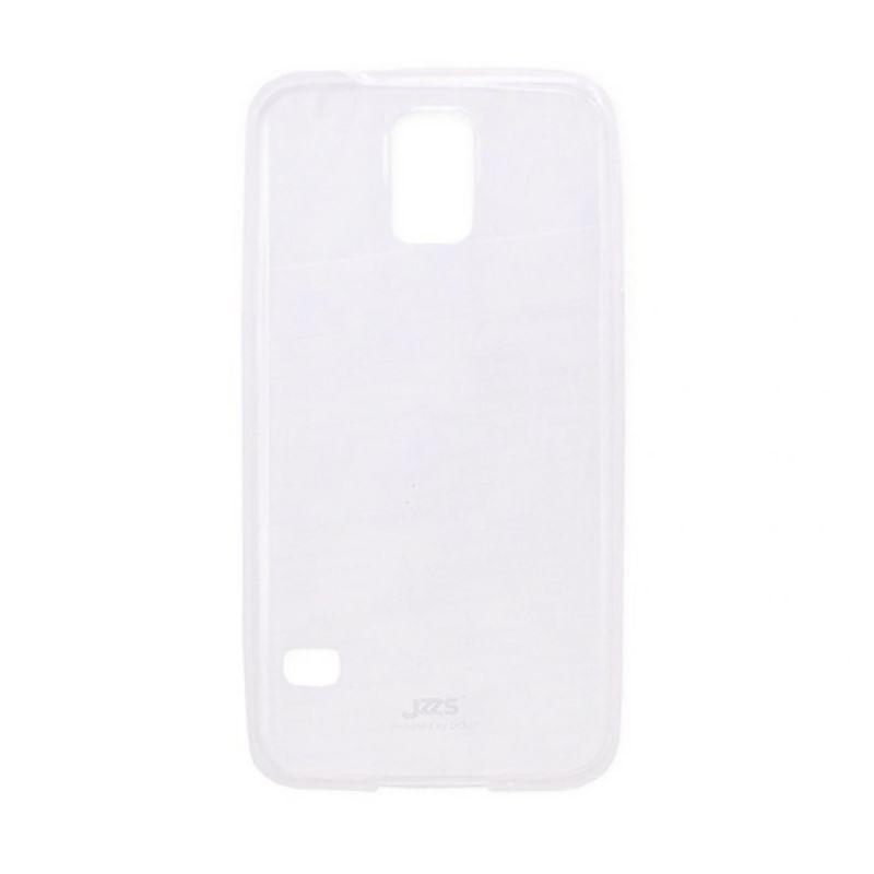 Jzzs Crystal TPU Soft Case Ultra Thin 0.5mm for Samsung Galaxy S5 - Putih Transparan