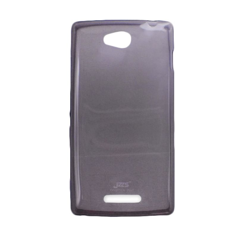 Delcell Jzzs Crystal TPU Soft Case Ultra Thin 0.5mm for Sony Xperia C S39H - Hitam Transparan