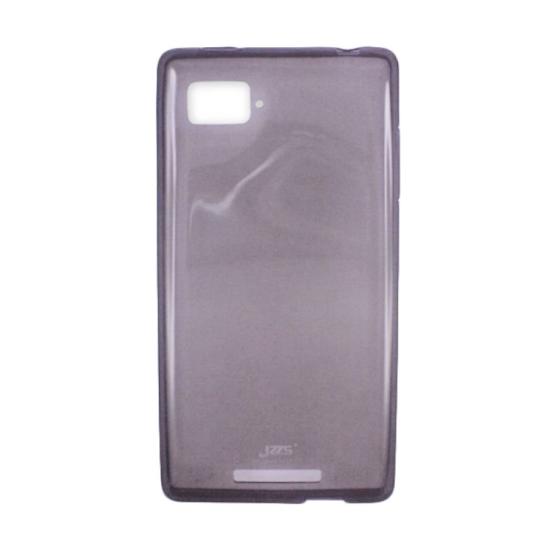 Delcell Jzzs Crystal TPU Soft Case Ultra Thin for Lenovo K910 - Hitam Transparan Casing