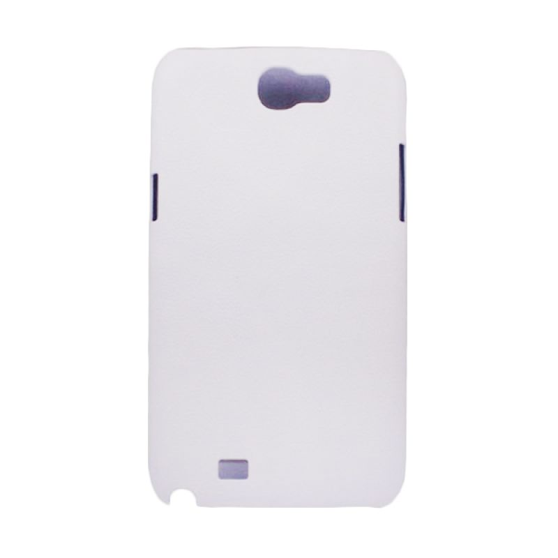 Delcell Jzzs Pitu Leather Case Samsung Galaxy Note II N7100 - Putih Casing