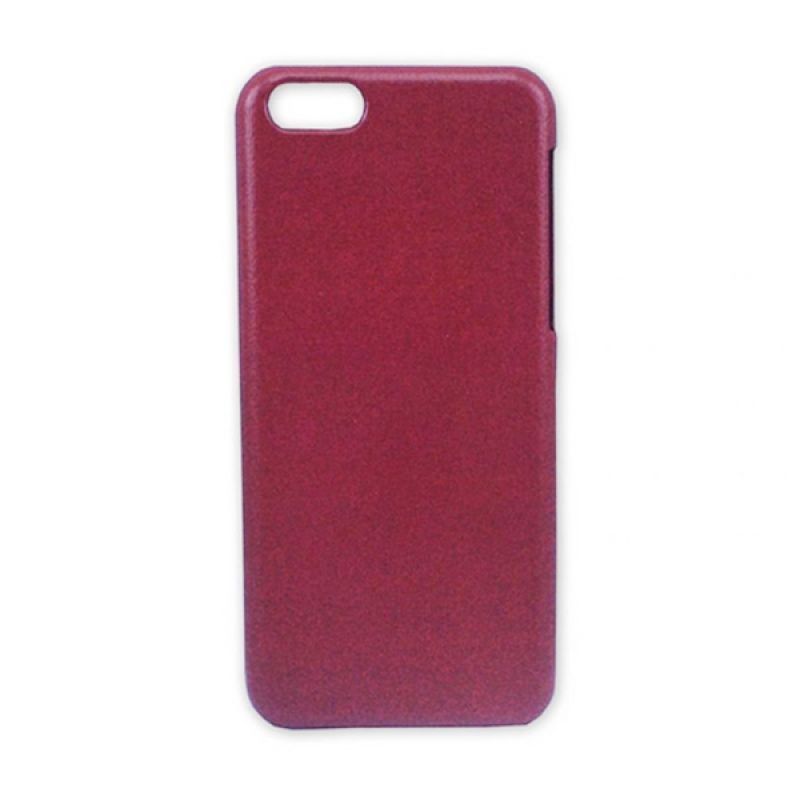 Delcell Jzzs Pitu Series Leather Back Cover Case for iPhone 5C - Coklat