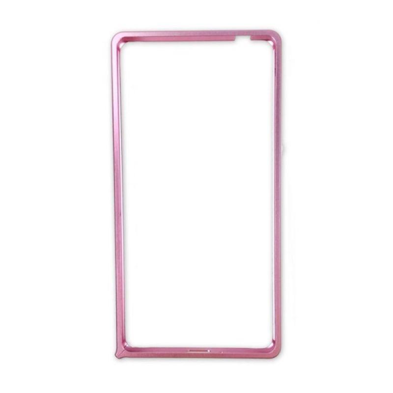 Delcell Metal Bumper Aluminium Ultra Thin for Xiaomi Redmi 1S - Pink