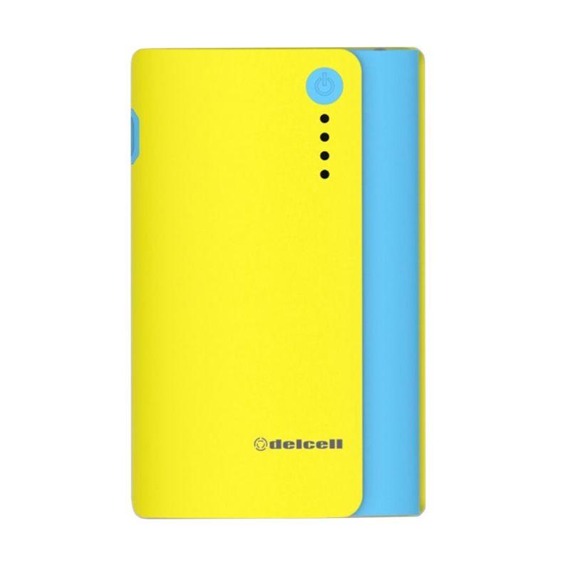 Delcell NITRO Real Capacity Kuning Biru Powerbank [6000 mAh]