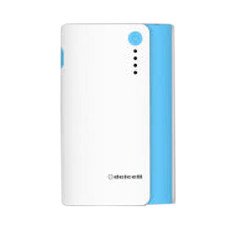 Delcell Nitro Real Putih Biru Powerbank [6000 mAh]