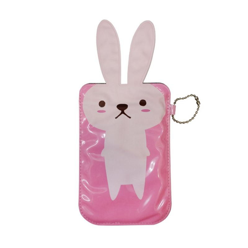 Delcell Pouch Universal Kelinci - Pink