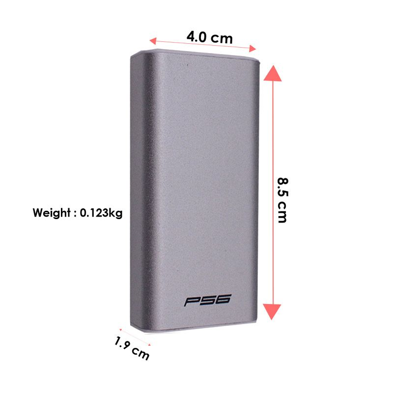 Delcell Power Bank P56 - Silver