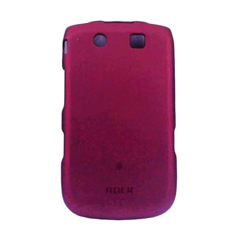 Delcell Rock Naked Shell Back Cover for Blackberry 9800 - Merah Maroon