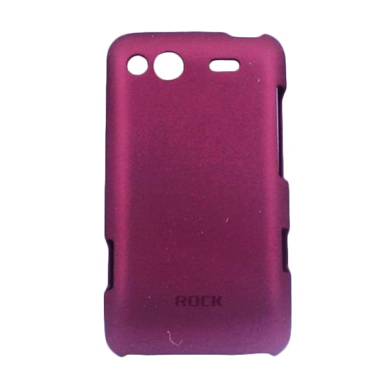 Delcell Rock Naked Shell Back Cover for HTC Salsa G15 - Merah Maroon