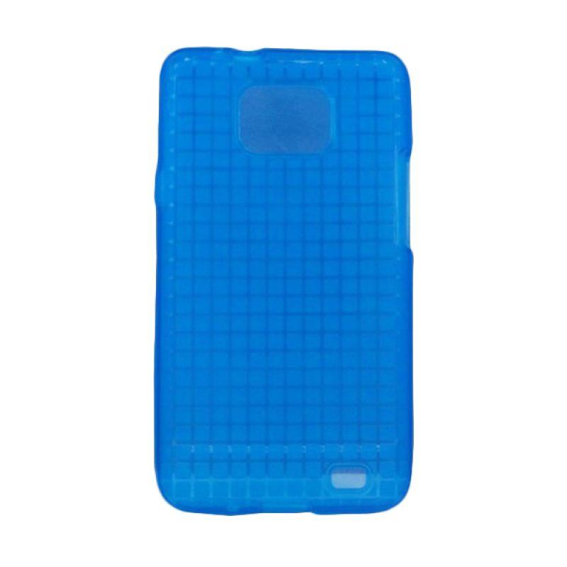 Delcell Rock TPU Case for Samsung Galaxy S2 Transparan - Biru