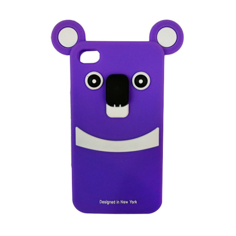 Delcell Silicon Case Panda For iPhone 4 Casing
